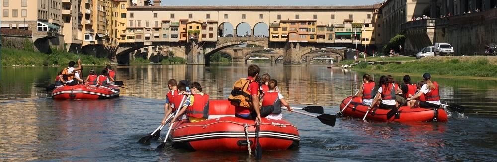 rafting firenze ponte vecchio toscana